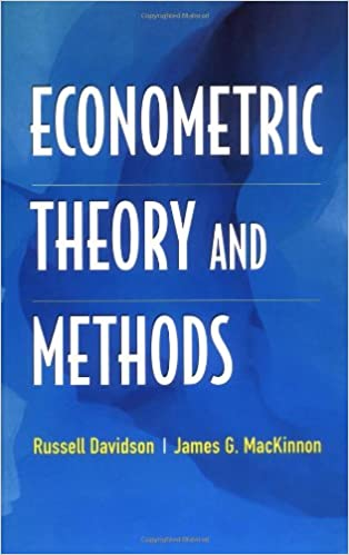 Book Econometric Theory and Methods