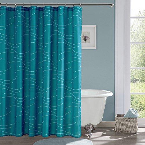 KindoBest Blue-Green Shower Curtains for Bathroom Waterproof