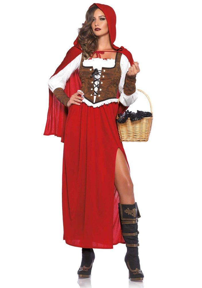 ,Karneval Klamotten' Kostüm Rotkäppchen Klassisch Dame Luxus Karneval Märchen Damenkostüm Größe 42/44