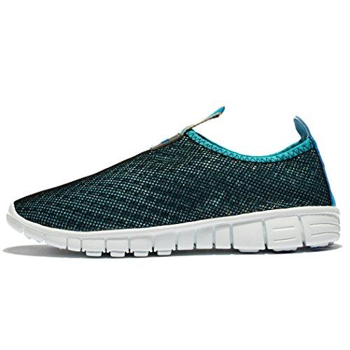 CHANGPING Herren & Damen Atmungsaktive Mesh Laufschuhe Slip-On Comfort Quick Dry Sneakers Blau