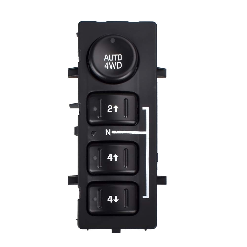 4x4 4wd Switch Replaces 15136039 15164520 19259313 901-072 4 Wheel Drive Switch Transfer Case for Chevy Silverado, Suburban, Tahoe, GMC Sierra 2003, 2004, 2005, 2006, 2007 PUENGSI