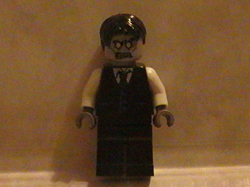 Lego Zombie City Business Man in Suit Monster Custom Minifigure with Briefcase (Lego Suit)