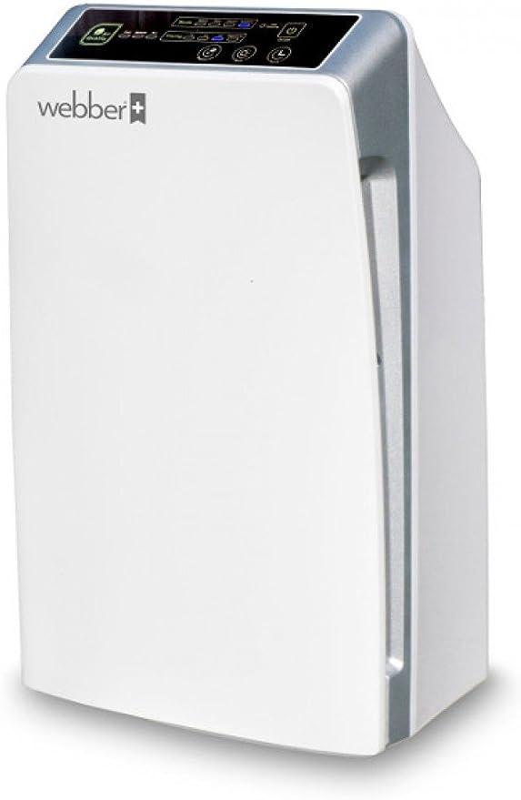 Purificador del Aire WEBBER AP8300 para Superficie 20-40m2, 4 ...