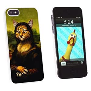 Graphics and More Meowna Lisa - Cat Mona Leonardo Da Vinci Painting Parody - Snap-On Hard Protective Case for Apple iPhone 6 4.7 - Non-Retail Packaging - White WANGJING JINDA