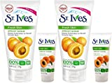 St. Ives Fresh Skin Apricot Scrub, 6 Ounce [With Bonus 1 Ounce] (Pack of 2)