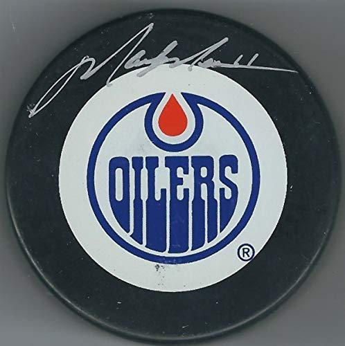 Autographed Signed Mark Messier Edmonton Oilers Hockey Puck With Steiner Coa - Certified Authentic