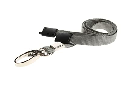 Image Unavailable. Image not available for. Color  ID Card It ID Badge  Holder Grey Neck Strap ... a5ce67e71