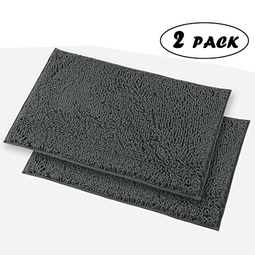 mayshine 2 piece 20x31 inch non slip bathroom rug shag. Black Bedroom Furniture Sets. Home Design Ideas