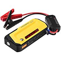 VicTsing   800A   Peak 18000mAh Car Jump Starter Power Bank with LCD Screen, LED Flashlight, Warning Light, Compass,Dual USB Charging
