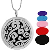AromaRain Breeze Essential Oil Diffuser Necklace - Hypoallergenic 316L Stainless Steel