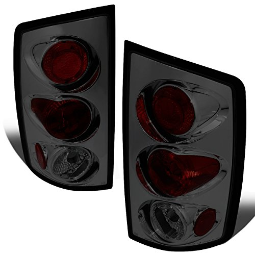 05 Dodge Ram Altezza Tail - For 2002-2006 Ram Truck Pair Smoked Lens Altezza Style Tail Light Brake Lamps