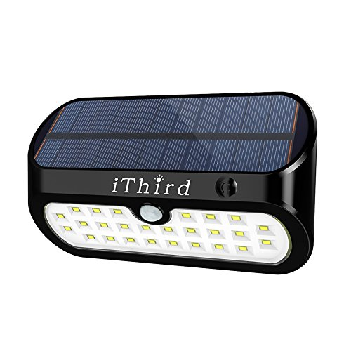 Solar Motion Sensor Lights Outdoor iThird 26 LE...
