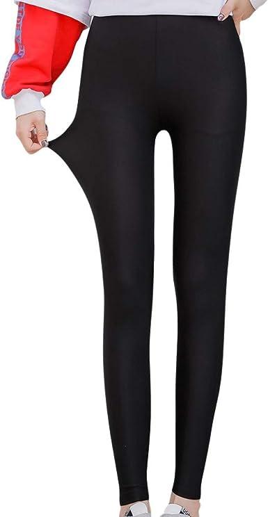 Amazon Com Sumeimiya Women S Fashion Shiny Nylon Stretchy Skinny Dance Leggings Pants Plus Size Cozy Stretch Ice Silk Leggings Clothing