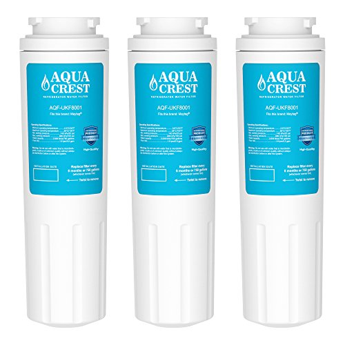 3 Pack AQUACREST UKF8001 Replacement for Maytag UKF8001, 469005, 4396395 Refrigerator Water Filter