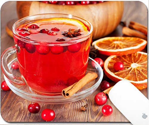 Luxlady Gaming Mousepad 9.25in X 7.25in IMAGE: 23482382 Hot mulled wine with cranberries and (Cranberry Wine Glass)