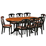 East West Furniture PLKE9-BCH-LC 9 Piece Dining Table with 8 Solid Wood Chairs Set Review