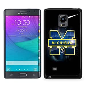 Newest Samsung Galaxy Note Edge Case ,Michigan Wolverines Black Samsung Galaxy Note Edge Screen Phone Case Popular Fashion And Durable Designed