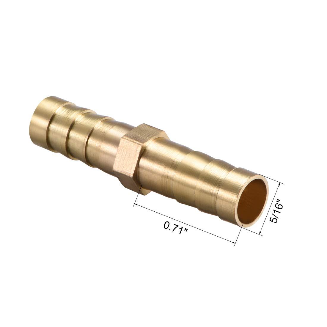 sourcing map manguera de lat/ón adaptador de conector de conexi/ón de manguera de 14 mm p/úa x 1//2 pt tubo macho