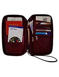 Roomi All-In-One Travel Passport Wallet, Wine, International Carry-On