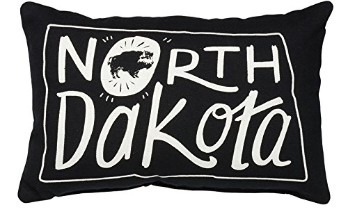 Primitives by Kathy Home State North Dakota Decorative Throw Pillow, 12 x 8-Inch
