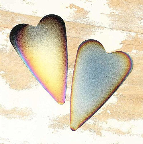 Factory Direct Craft Package of 24 Burnished Metal Heart Cutouts - (4
