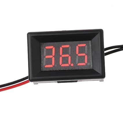 Dchaochao - Termómetro digital LED para coche, sonda, frigorífico, congelador, temperatura de