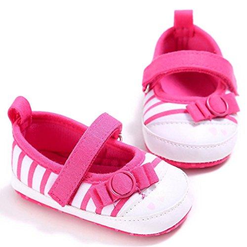 Tefamore Zapatos bebe de bajos de deporte de antideslizante de suave de moda invierno otoño Rosa caliente