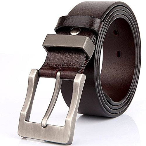 Men 100% Genuine Leather Belt Brown