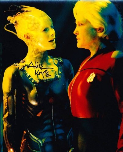 ALICE KRIGE as The Borg Queen - Star Trek: Voyager Genuine Autograph from Celebrity Ink