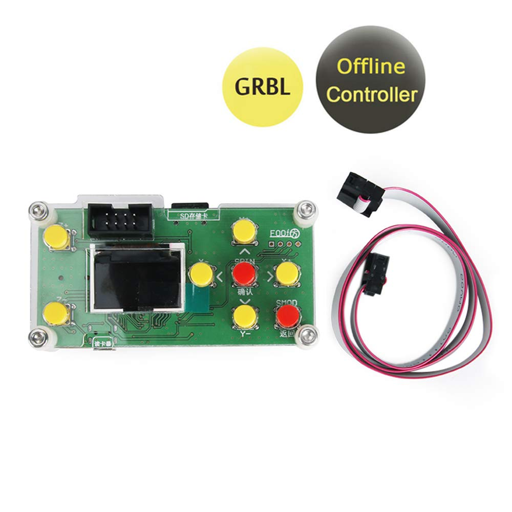 Offline Controller, CNC Router Offline Control Module Offline Working Remote Hand GRBL Controller LCD Screen for CNC Laser Engraving Milling Machine Wood Router