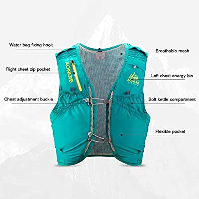 AONIJIE Hydration Pack 10 Set Chaleco Ligero para Correr con ...