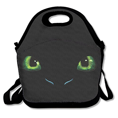 Your Tote How Lunch Adults Backpack Reusable Zipper Handle Or with Train Toothless to Strap Carry Shoulder Kids Bag Dragon for and EExwzqSg