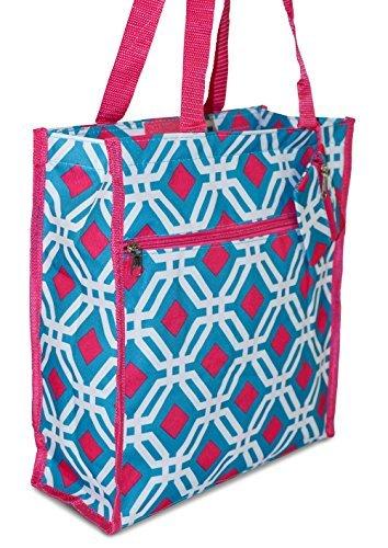 Diamond Print Tote Bag
