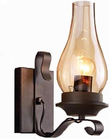 NOBLJX Lámpara de Pared Industrial Vintage Edison Fuente de luz ...