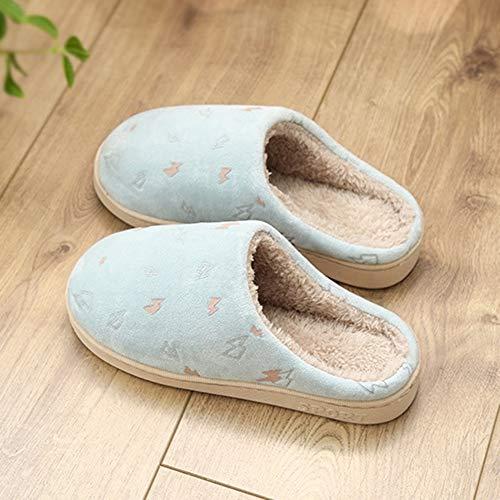 Ciabatte Caldo Pantofole colore Resistente Coppia Brown Scarpe Al Blu Invernale Interni Addensato Dimensioni Per Tenere 43 Cotone Pattini Fulmine All'usura Antiscivolo Tingting 42 6ddwrq