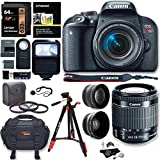 Cheap Canon EOS Rebel T7i Camera, EF-S 18-55 is STM Lens Kit, Sandisk 64GB, Ritz Gear Premium SLR Camera Bag, Filter Kit, Flash and Accessory Bundle