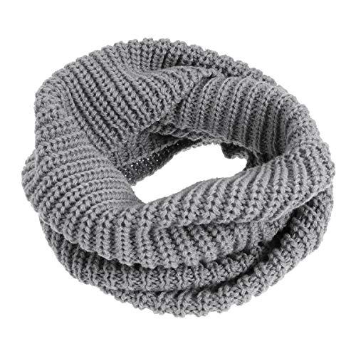 FENICAL Círculo bufanda Cálido invierno punto largo bucle Cuello bufanda  Pañuelo para niños niñas (Gris e8675a4dcfe