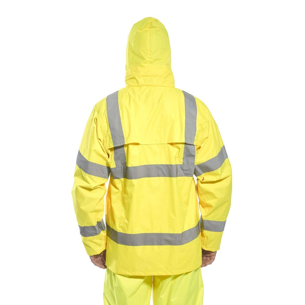 Orange 4X-Large Portwest H440ORR4XL Hi-Vis Rain Jacket