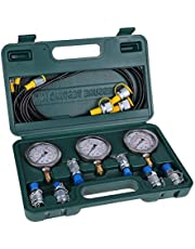 Hydraulische druktestset, VBESTLIFE digitale hydraulische metertestonderdelen met koppelingen, slangen, manometers voor graafmachine bouwmachines