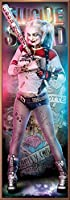 "POSTER STOP ONLINE Suicide Squad - Movie Door Poster/Print (Harley Quinn With Baseball Bat) (Size: 21"" x 62"")"