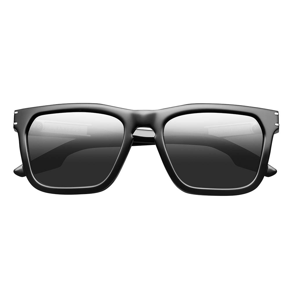 IVI Gravitas Sunglasses (Polished Black - Brushed Silver/Grey AR)