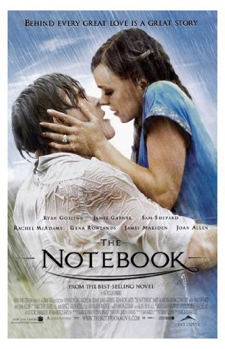 The Notebook Movie Art Print - Movie Memorabilia - 11x17 Poster, Vibrant Color, Features Ryan Gosling, Rachel McAdams, James Garner, Gena Rowlands, Joan Allen, James Marsden. (Line Art Posters To Color)