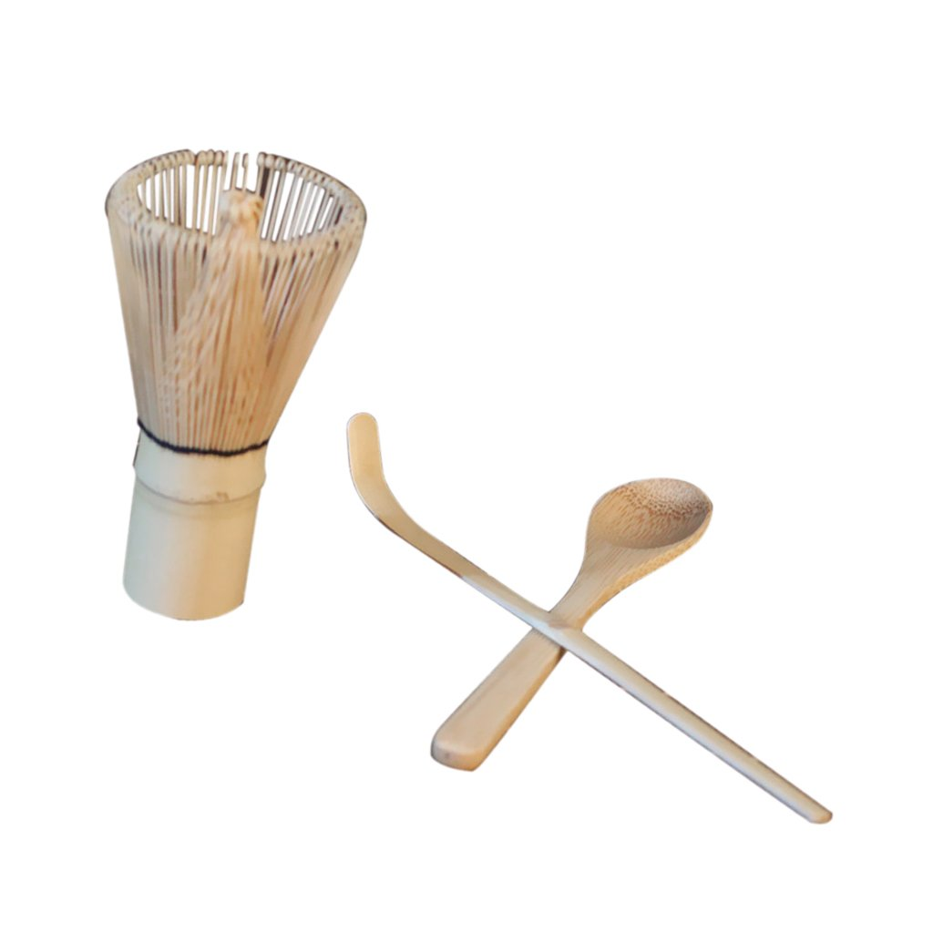 MonkeyJack Japanese Matcha Whisk Bamboo Green Tea Powder Chasen Brush Scrub Tool Tea Scoop Tea Spoon Whisk Teaspoon