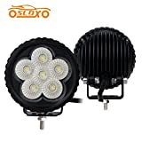 SLDX 3.5'' 18W Cube Led Work Lights Agriculture Lights 6pcs 3w Cree Leds 1500LM for Off Road Tractor 4wd Utv Atv Suv Boat Road Fog Lamp -2Y Warranty IP67