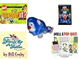 "Children's Gift Bundle - Ages 6-12 [5 Piece] - Scene It? Nickelodeon DVD Board Game - 1993 Mighty Morphin Power Rangers Notepad - Neopets PetPet Blue ""Noil"" Lion Plush Toy 6"" - Friends of a Feather:"