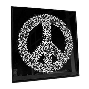 Wandbild Peace Zeichen Silber Glitzer Optik 40x40 Cm Kl Wall