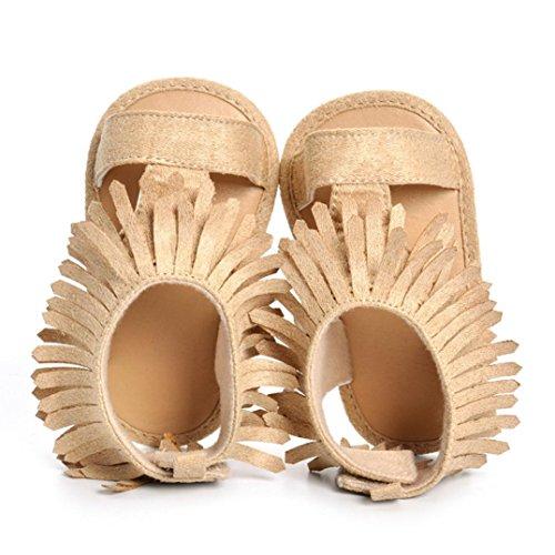 Voberry Toddler Baby Girls Tassel Sandals Soft Soled Anti-slip Fringe Footwear Shoes