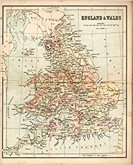 Geography Map Of England.Map England Wales From Murby S Geography And Atlas H A Dick