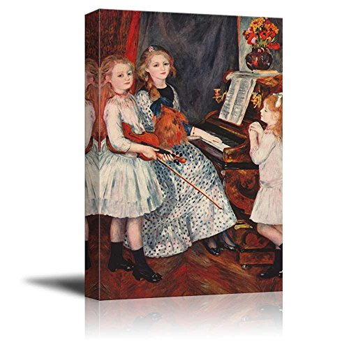 Wall26 - Young Girls at The Piano by Pierre-Auguste Renoir - Canvas Print Wall Art Famous Painting Reproduction - 12