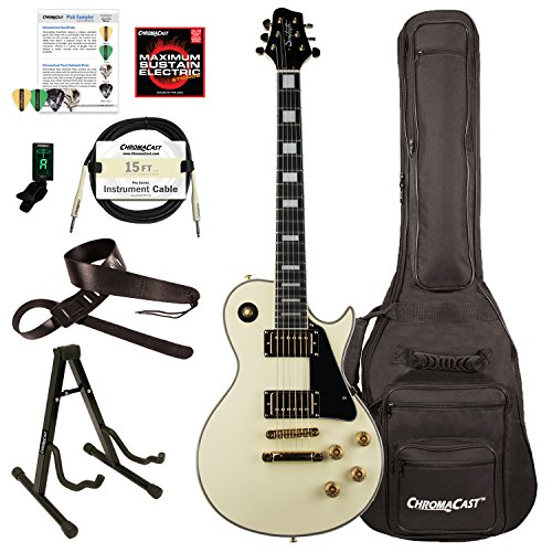 Sawtooth ST-H68C-ATQWH-KIT-1 Heritage Series Maple Top Electric Guitar, Antique White